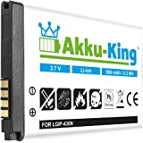 Akku-King Akku für LG GS290, GW300, GM360, GU280, LG GS290, GM360A, Cookie Lite T300, T310, Town C300, Viewty Snap GM360 - ersetzt SBPL0098901, LGiP-430N - Li-Ion 900mAh