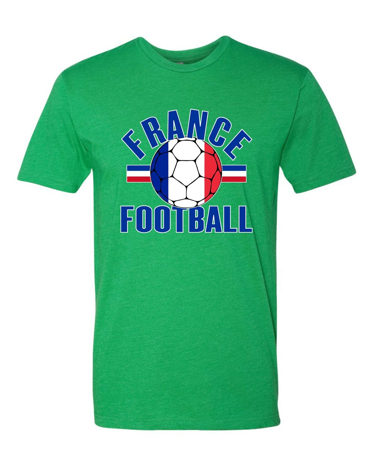 Adult France Football French Soccer Deluxe Tshirt