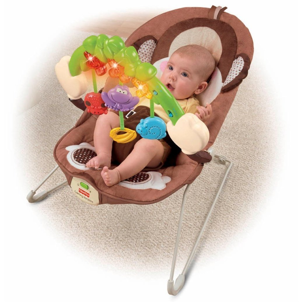 Baby play chairs - Amazon Com Fisher Price Deluxe Monkey Bouncer Infant Bouncers And Rockers Baby