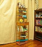 YATAI Wooden Bookshelf Bookcase Wood Storage Organizer Shelf Bamboo 7-Tier With Drawer Multifunctional Storage Rack…