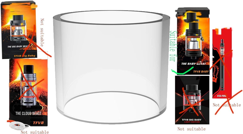 SMKVP Serbatoio di ricambio per atomizzatore TFV8 Baby al85 GX230 Confezione da 3 Stick V8 Baby Beast 22 x 19,5 mm in vetro
