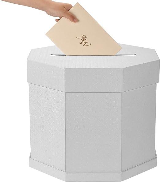 AWEI Caja de tarjetas de boda – Tarjeta de recepción Post Box para ...