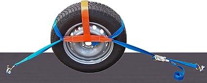 Shz 4x Spanngurt Auto Transport Zurrgurt Radsicherung Pkw Kfz Trailer Reifengurt 4 Auto