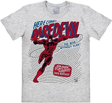 Logoshirt Camiseta Daredevil - Camiseta Marvel Comics - Camiseta con Cuello Redondo Gris Vigoré - Diseño Original con Licencia: Amazon.es: Ropa y accesorios