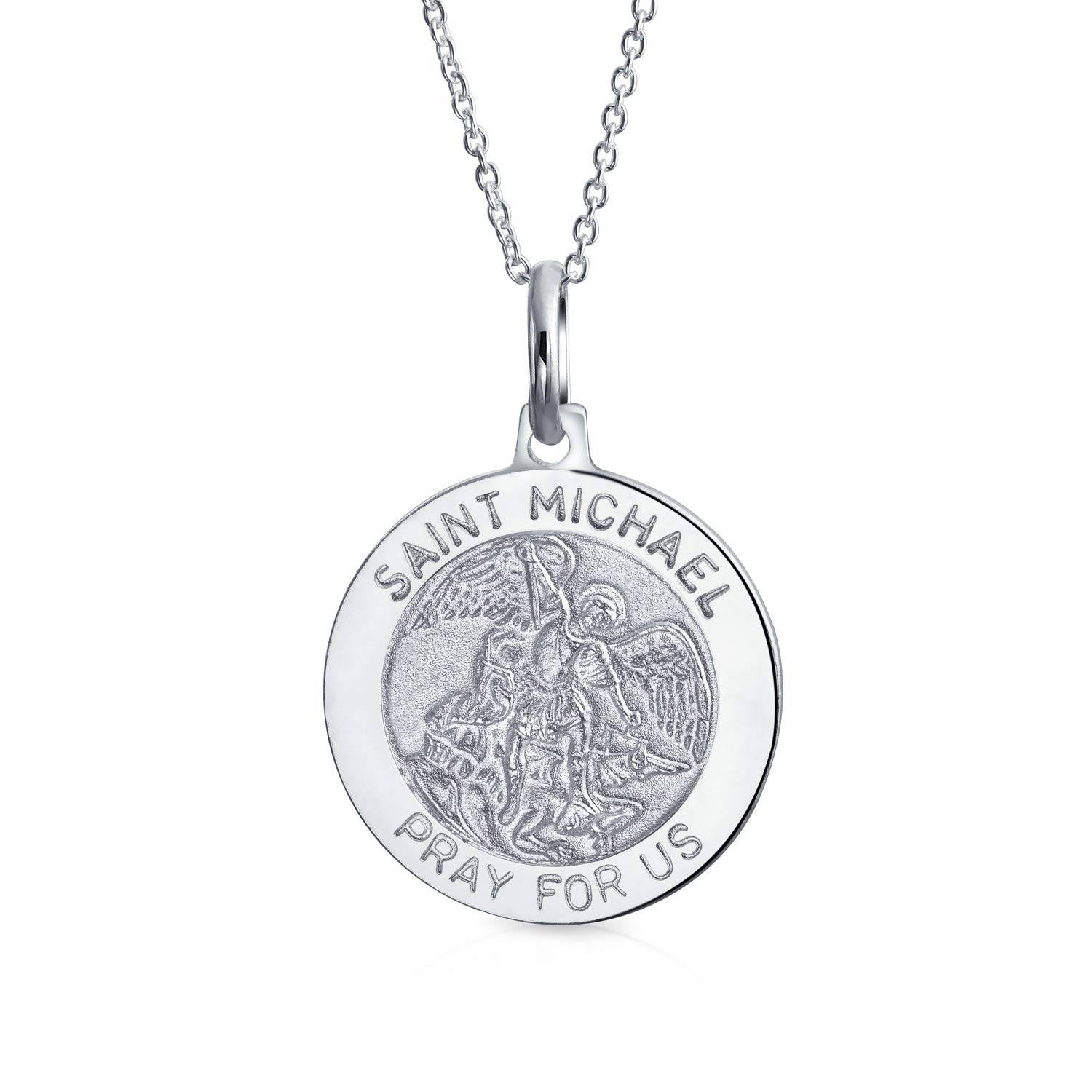 Christopher Protect Us Medal Charm Pendant MSRP $25 .925 Sterling Silver St