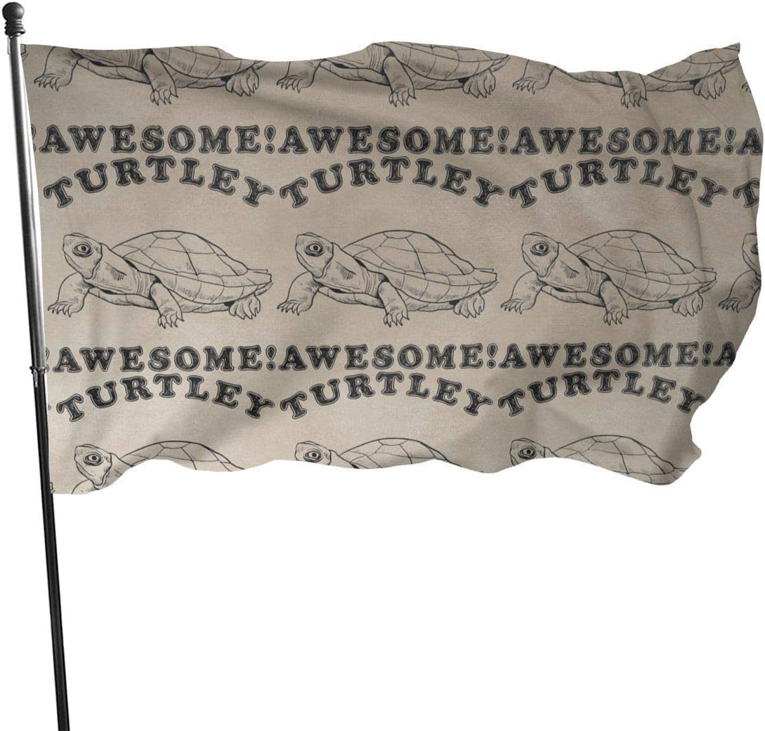 AOOEDM Funny Turtle Garden Flag Double-Sized Print Decorative Holiday Home 3x5 Ft Flag