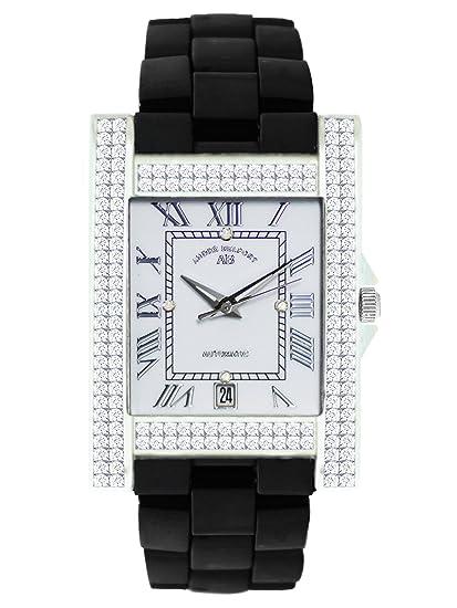André Belfort 410121 - Reloj analógico de mujer automático con correa de cerámica negra - sumergible a 50 metros: Amazon.es: Relojes