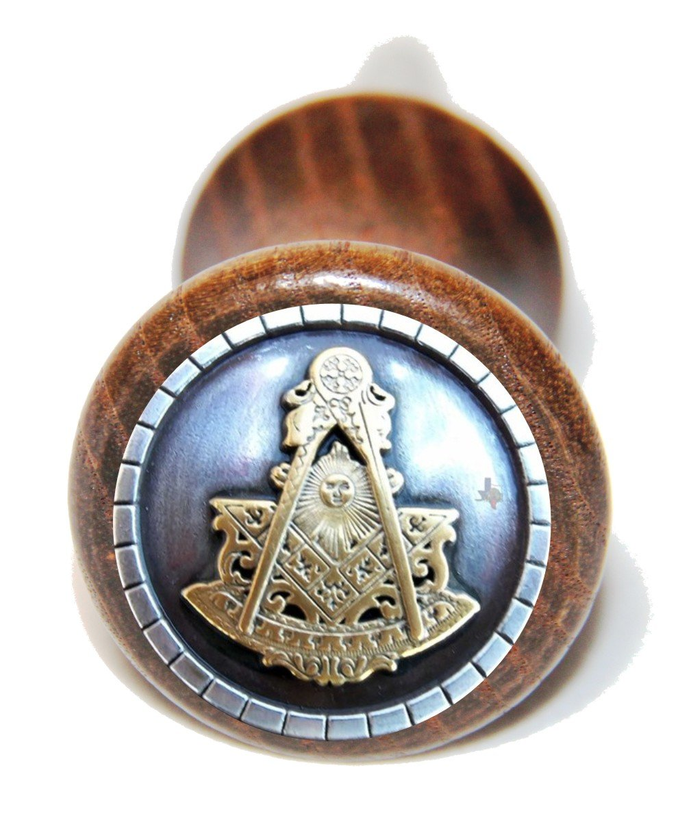 Custom Masonic Past Master wine bottle stopper by Genuine Texas Brand