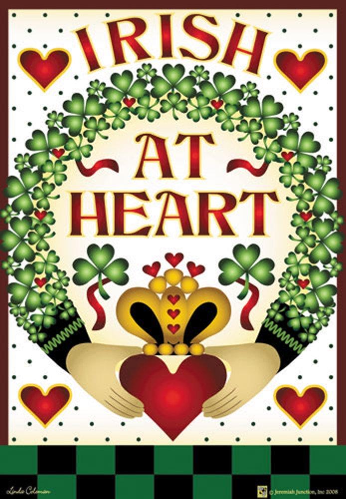 Amazon Irish At Heart 24x36 Decorative Outdoor Flag