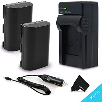 2 LP-E6 Batteries and AC/DC Battery Charger Kit for Canon EOS 7D Mark II 6D  Mark ii 80D EOS 5D 6D 7D 60D 60Da 70D EOS 5D Mark II EOS 5D Mark III XC10