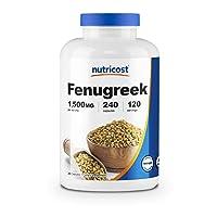 Nutricost Fenugreek Seed 1500mg, 240 Capsules - Gluten Free, Non-GMO, 750mg Per...