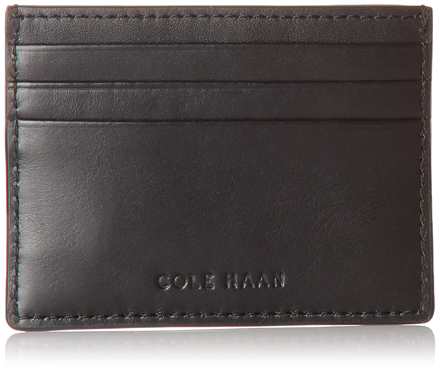 Cole Haan Women's Kaylee Leather Card Case, black by Cole Haan