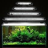 Iluminación para acuario GreenSun, LED, 5050 SMD, enchufe europeo, luz azul, resistente al agua, Blanco