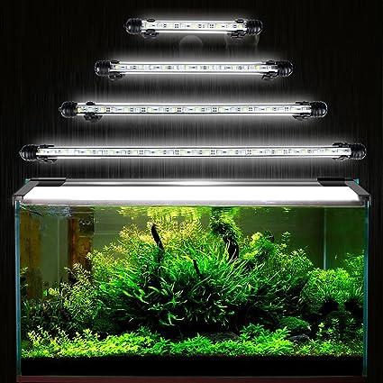 DOCEAN 5050SMD 27LEDs Acuario iluminación LED de lámpara bombilla Lighting para pez Tank EU Conector resistente