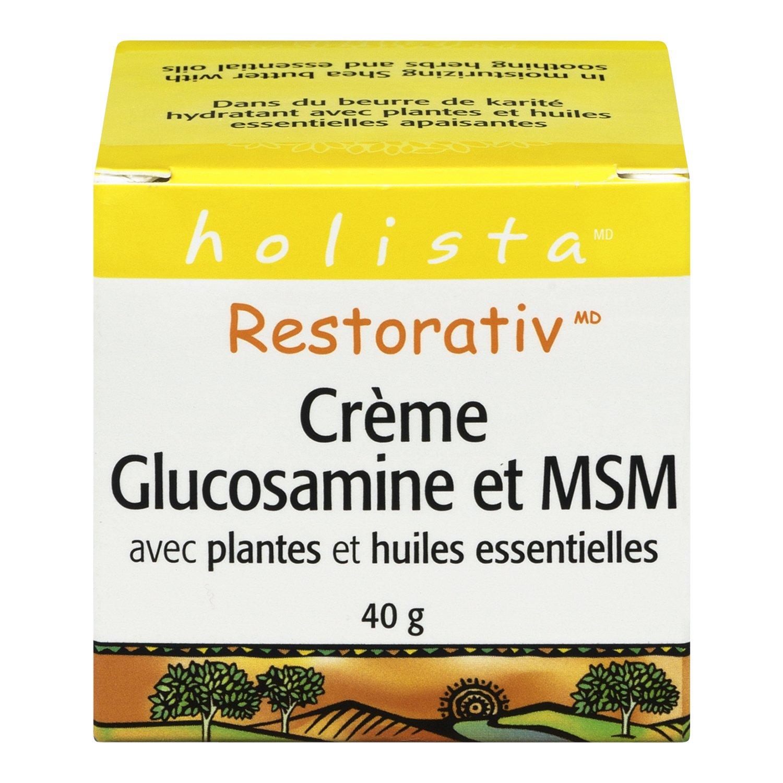 RestorativTM Extra Strength Glucosamine   MSM Cream, 40 grams by Holista