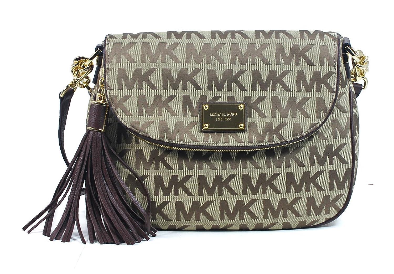 New Authentic Michael Kors Jet Set Md Tssl Convertible Logo Shoulder Mercer Satchel Bag Khaki Mocha Handbags