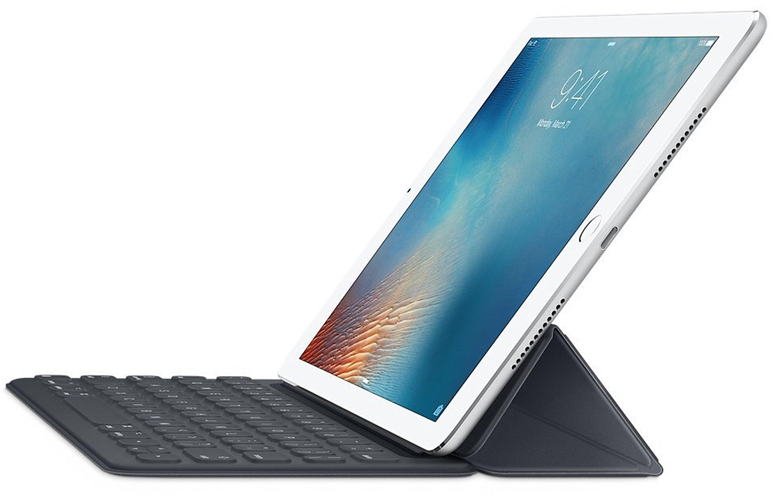 Apple Smart Keyboard for Apple iPad Pro 9.7-inch - MM2L2AM/A - Black (Renewed)