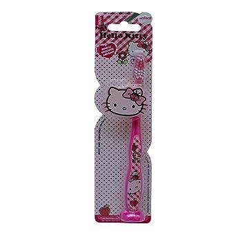 tinokou cepillo de dientes ergonómico con tapa de protección/ventosa Hello Kitty - Juego de 4: Amazon.es: Salud y cuidado personal