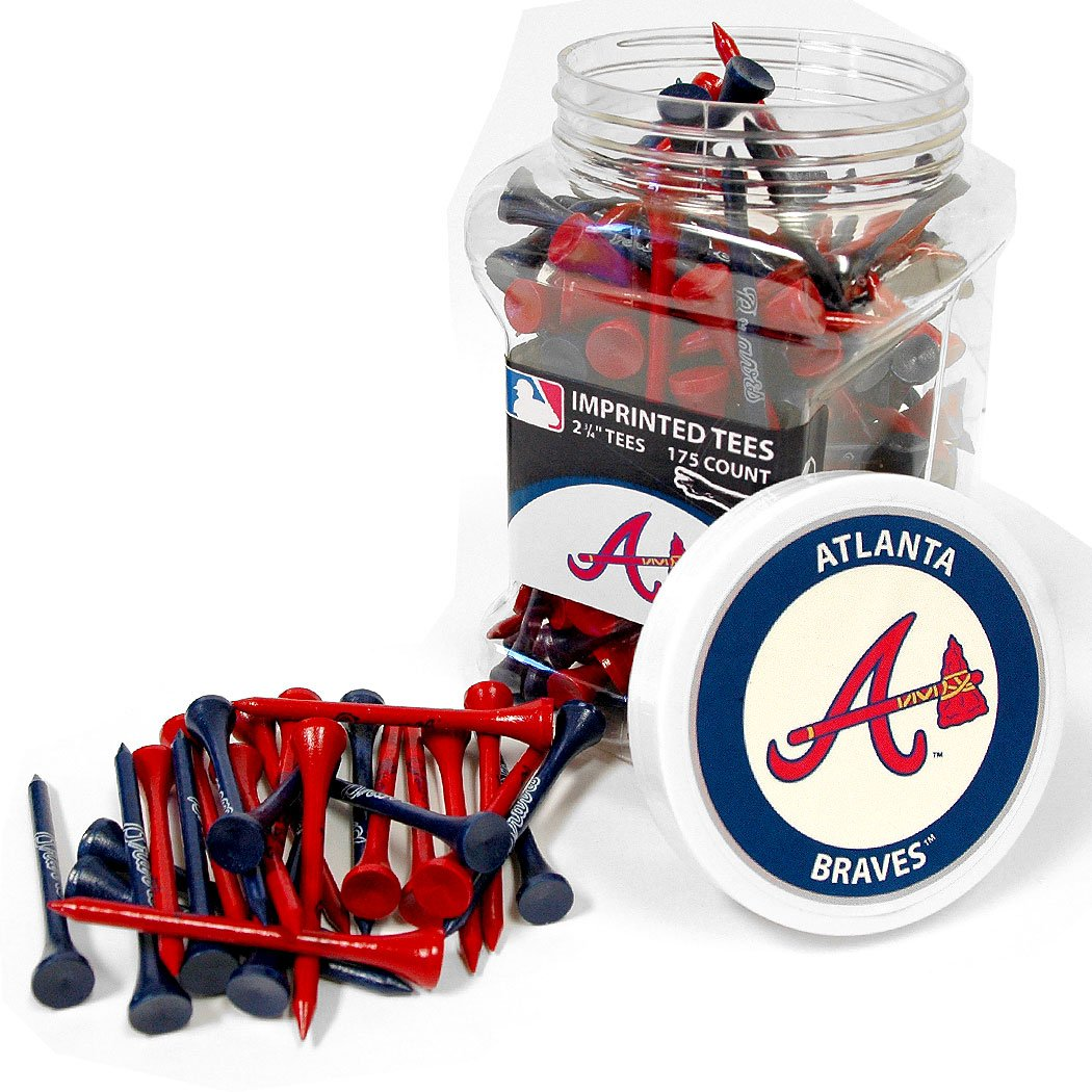Team Golf MLB Atlanta Braves 2-3/4'' Golf Tees, 175 Pack, Regulation Size, Multi Team Colors
