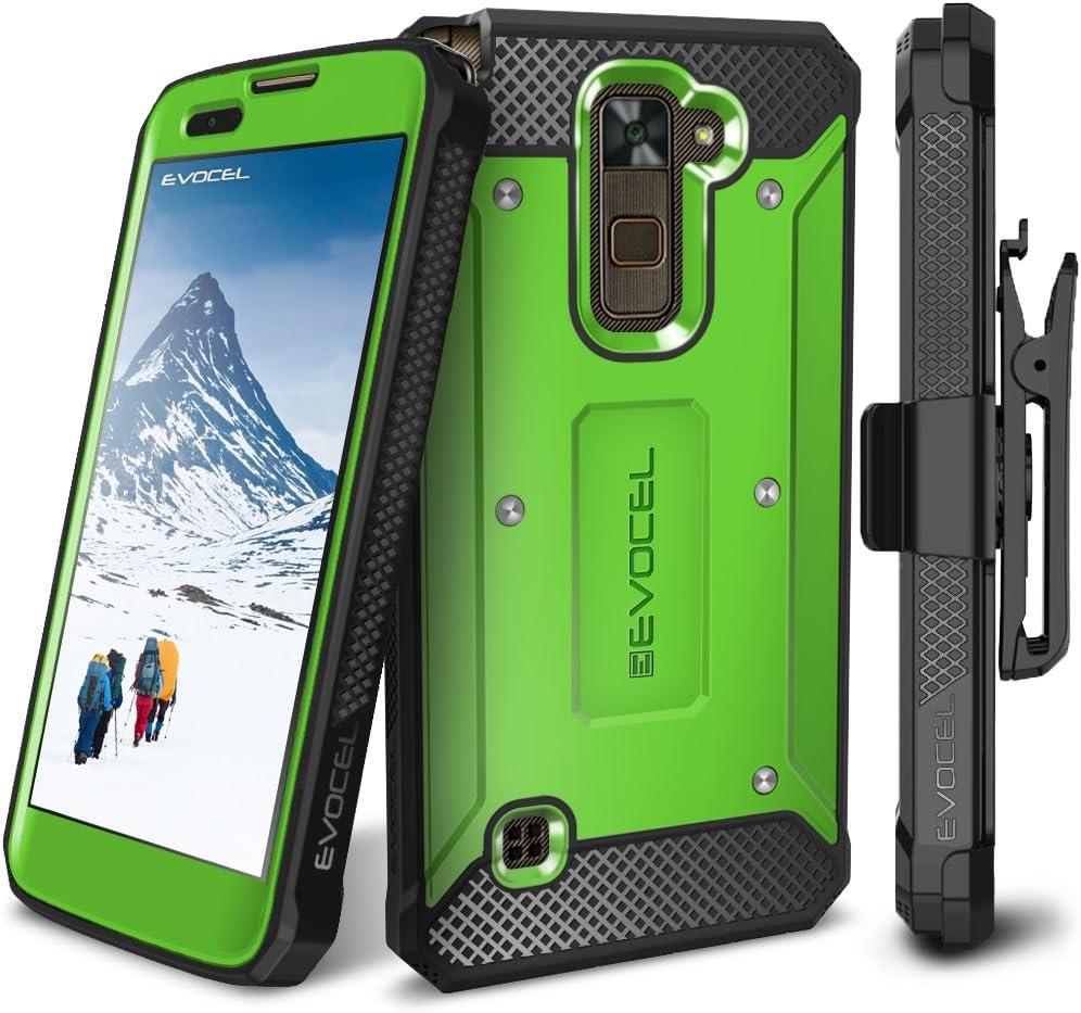 LG Stylo 2 / LG Stylo 2 Plus/LG Stylo 2 V Case, Evocel [Explorer Series] Premium Full Body Case with Rugged Belt Clip Holster for LG G Stylo 2 / LG Stylo 2 V/LG G Stylo 2 Plus, Green