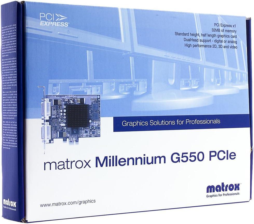 Matrox G55-MDDE32F G550 - Tarjeta gráfica de 32 MB (2048 x 1536 ...