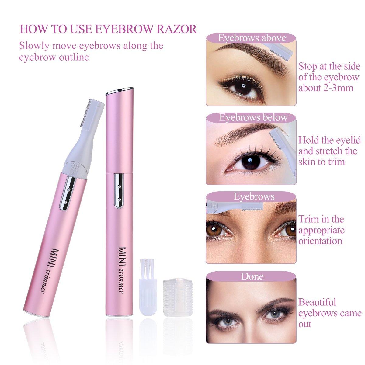 Amazon Nuolux Electric Eyebrow Trimmer Eyebrow Razor Kit With