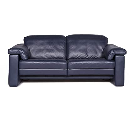 Amazon Com Rolf Benz Designer Leather Sofa Blue Two Seater Couch