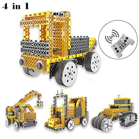 Amazon Com Wsxus Remote Control Building Kit 4 In 1 Kids Robot Rc