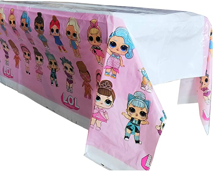 4 Pack LOL Table Cover 70 x 42 Themed Birthday Party Supplies Decorations Tablecloth Party Favors for Kids