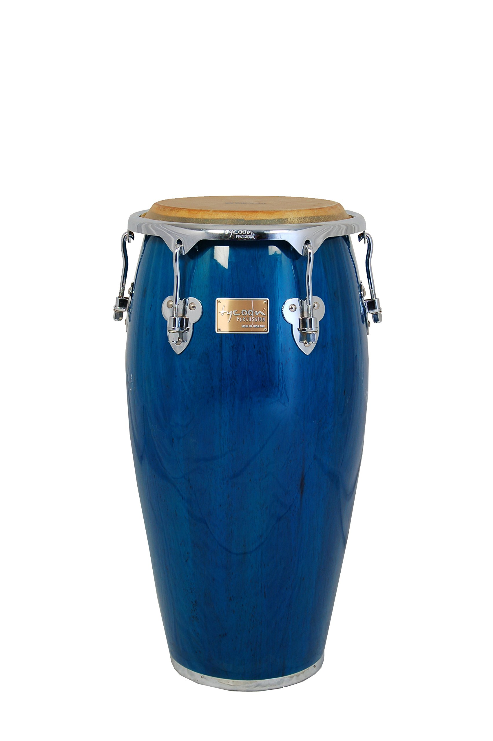 Tycoon Percussion 10 Inch Master Classic Series Blue Requinto With Single Stand by Tycoon Percussion