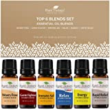 Plant Therapy Top 6 Synergies Set - Essential Oil Blends for Sleep, Stress, Muscle Relief, Energy, Health, 100% Pure…