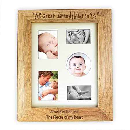 10x8 Great Grandchildren Wooden Photo Frame Personalised Personalise ...