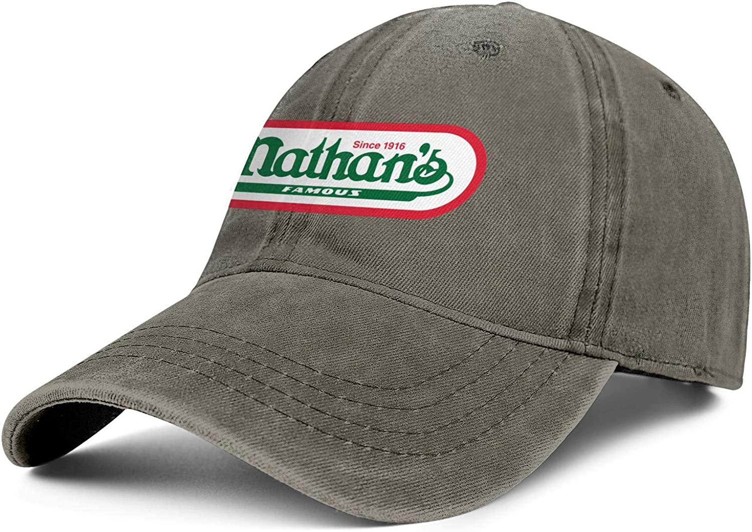 WintyHC Nathans Famous Logo Cowboy Hat Dad Hat One Size Skull Cap