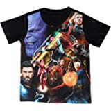 Marvel Avengers Boys Cotton Poly Round Neck Short Sleeves Tshirt - Multicolour (DMA0072.2)