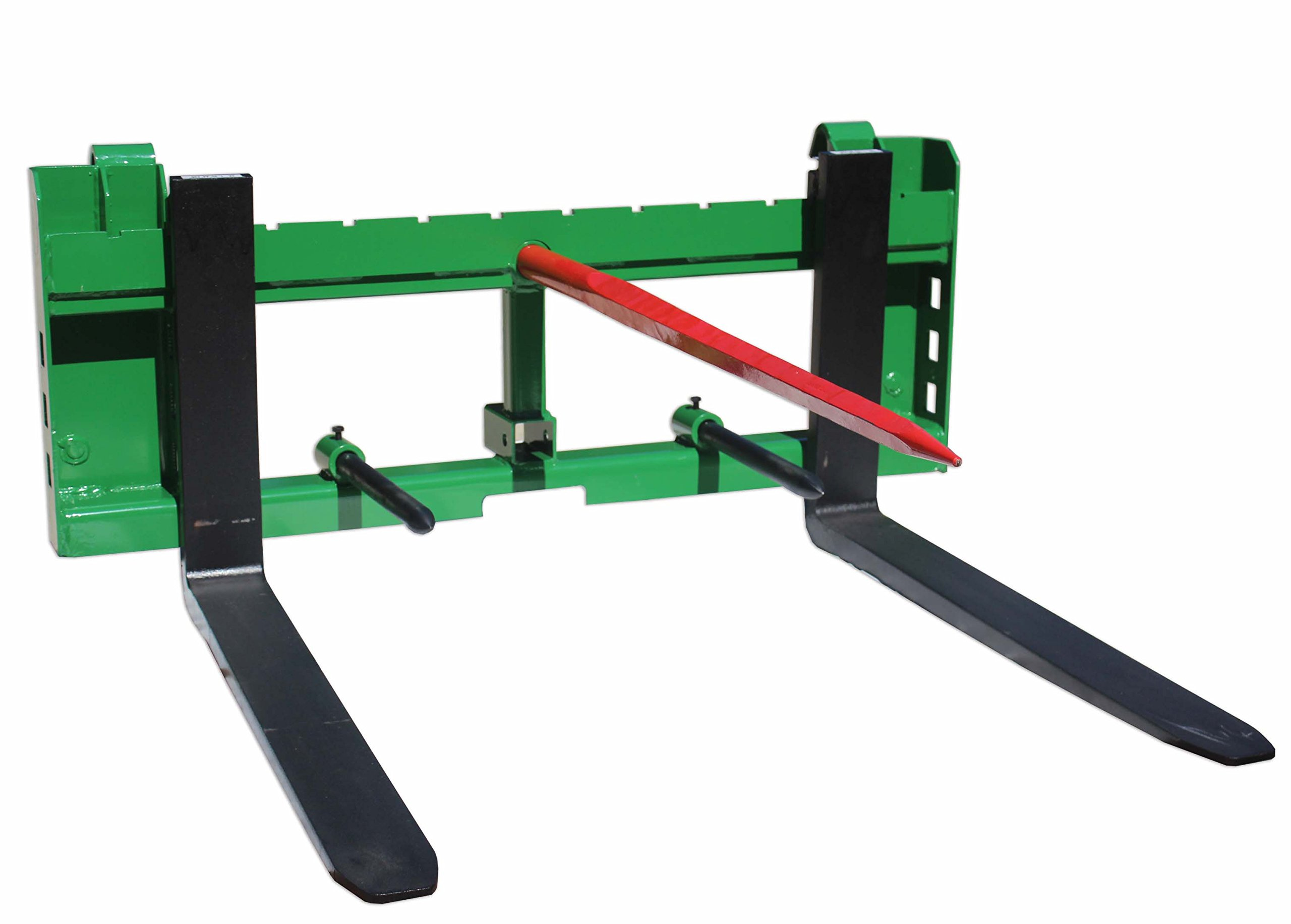 Titan John Deere 42'' Pallet Fork 49'' Hay Bale Spear Attachment w/ Trailer Hitch by Titan Attachments