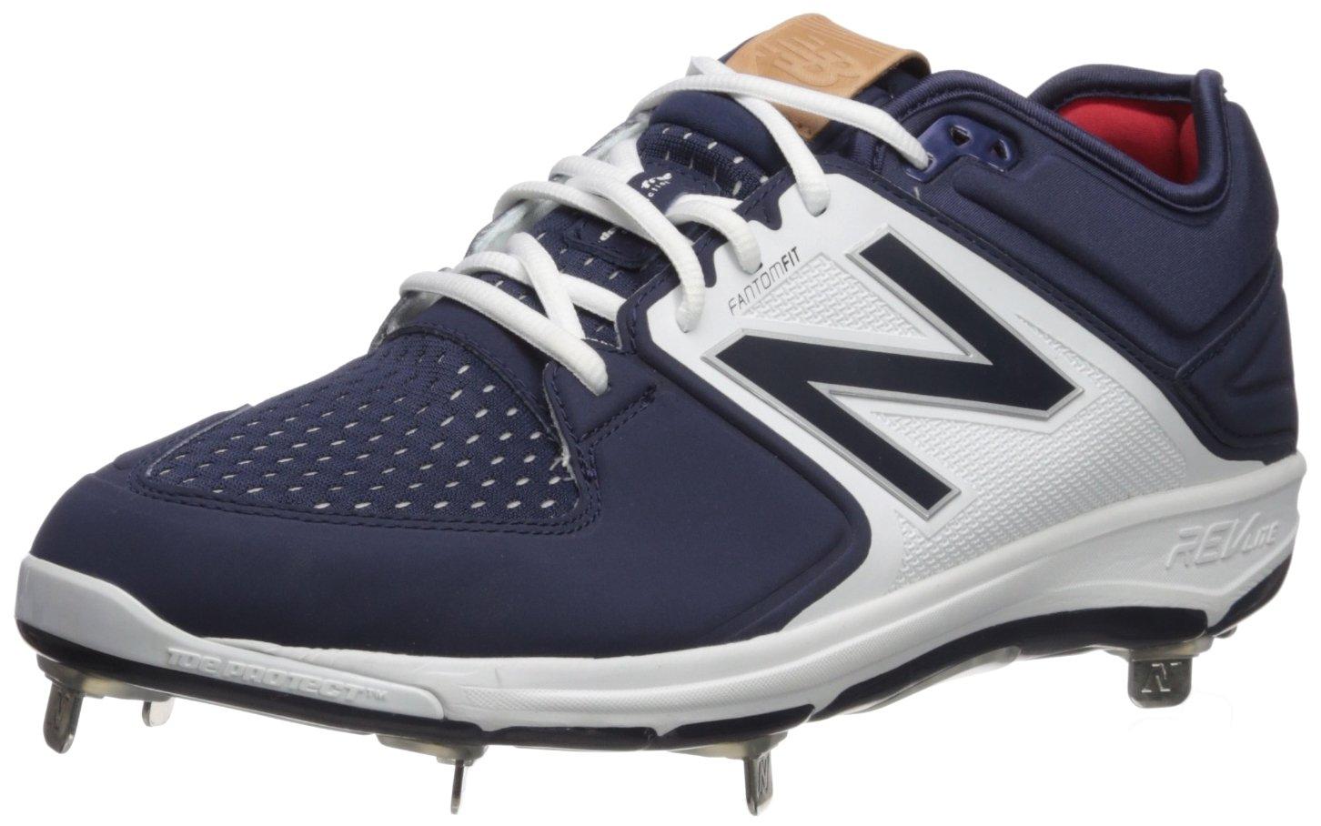 New Balance Men's L3000v3 Metal Baseball Shoe B019EEOFXK 9.5 D(M) US|Navy/White