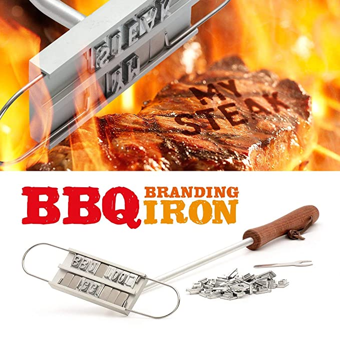 Amazon.com: Barbacoa parrilla de barbacoa marca hierro con ...