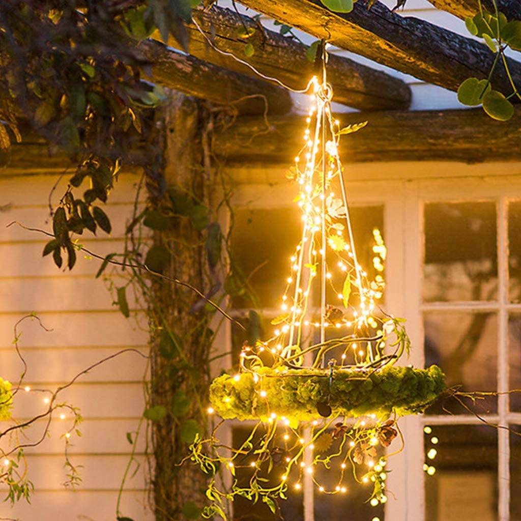 6 56 Ft Copper Wire Firefly Lights For Outdoor Garden Christmas Party Decorations Leadmall Decorative Vine String Lights 10 Strands 200 Leds Waterproof Hanging Fairy Lights Battery Operated Brads Arts Crafts Sewing
