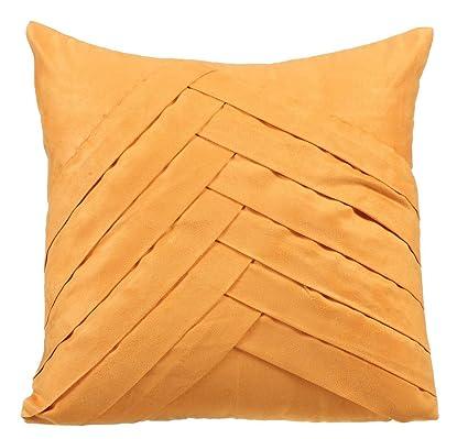 55x55 cm fundas de cojines, Mostaza fundas cojines, Con textura