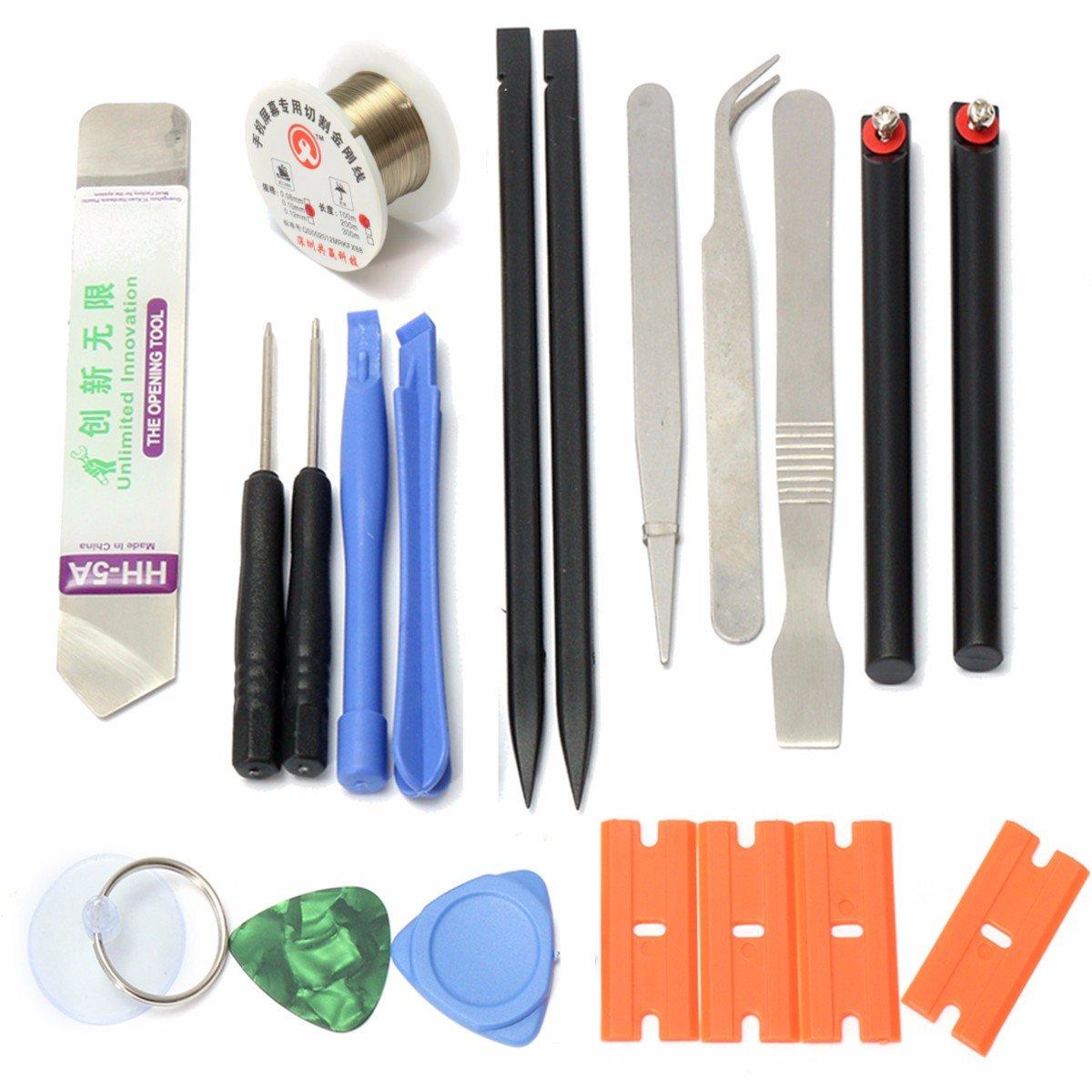10 in 1 Opening Pry Tool Set Spudger Tweezers Nylon Plastic Opener Screwdrivers