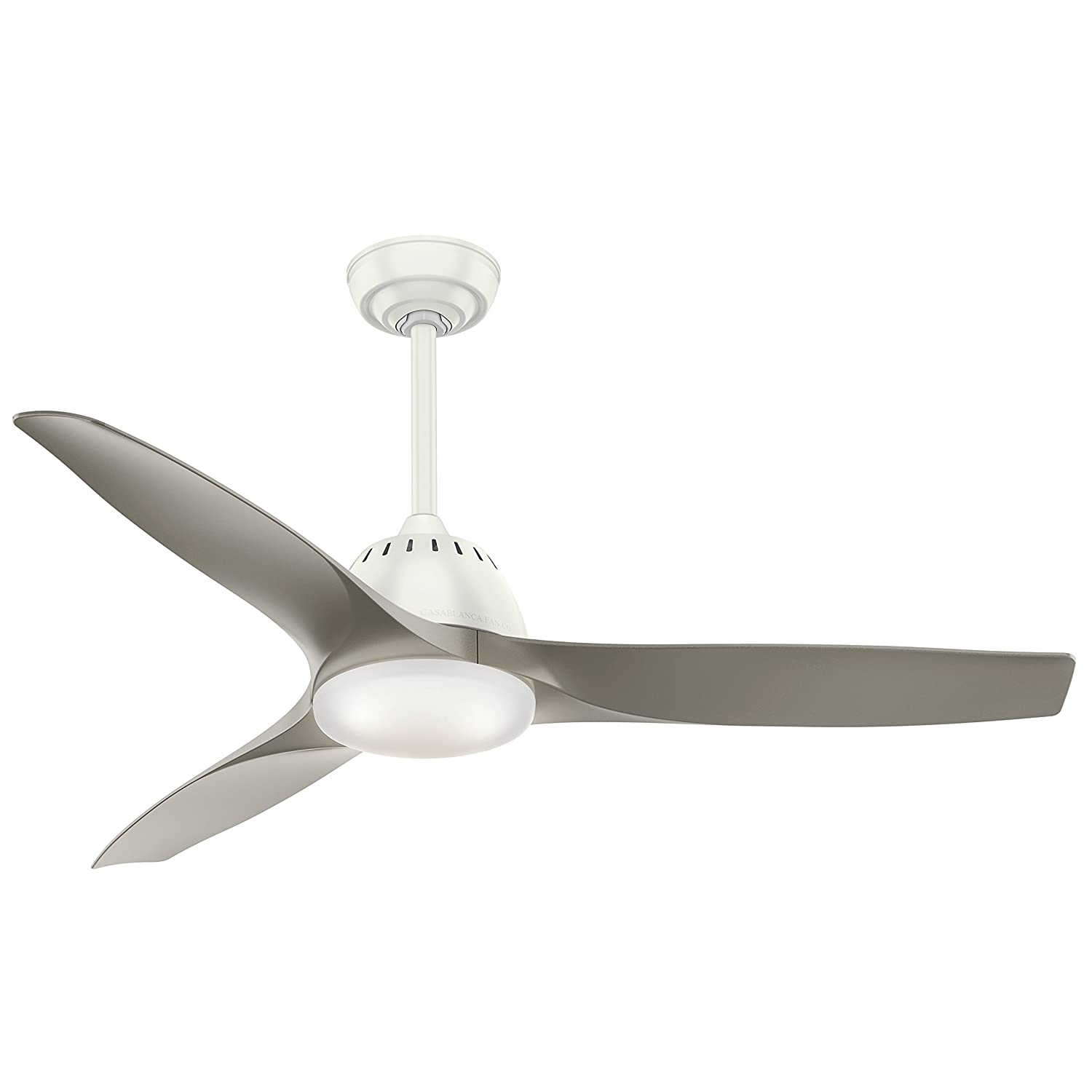 Casablanca Indoor Ceiling Fan with LED Light and Remote Control - Wisp 52 inch, Pewter, 59152
