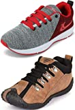 Ethics Best Red Air Breathing Running Sports Shoes & Brown Running Sports Shoes for Men