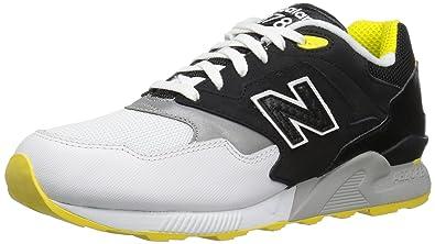 New Balance Men\u0027s 878 90s Running Color Continuum Pack Fashion Sneaker,  Black/White,