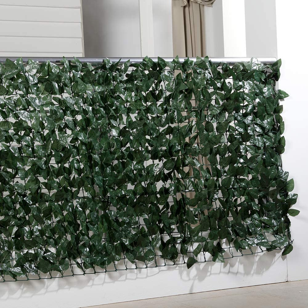 Amazon De Balkon Sichtschutzhecke Sichtschutz Balkon Efeu Blatter Kunstliche Hecke Kunststoff 300 X 100 Cm