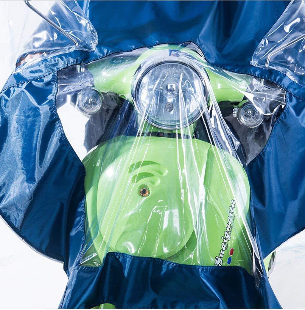 Motorrad Regenmantel Regenbekleidung Abdeckung Motorrad wasserdicht verl/ängert Poncho mit durchsichtigen Panel Universal Mens Womens Radfahren Fahrrad Fahrrad Regenmantel Regen Cape