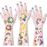 Mocossmy Unicorn Temporary Tattoos for Kids - Glitter Style Unicorn Tattoo Sticker,Waterproof Unicorn Fake Tattoos…