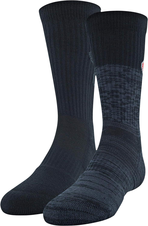 Under Armour Youth Phenom Logo Crew Socks, 3-Pairs