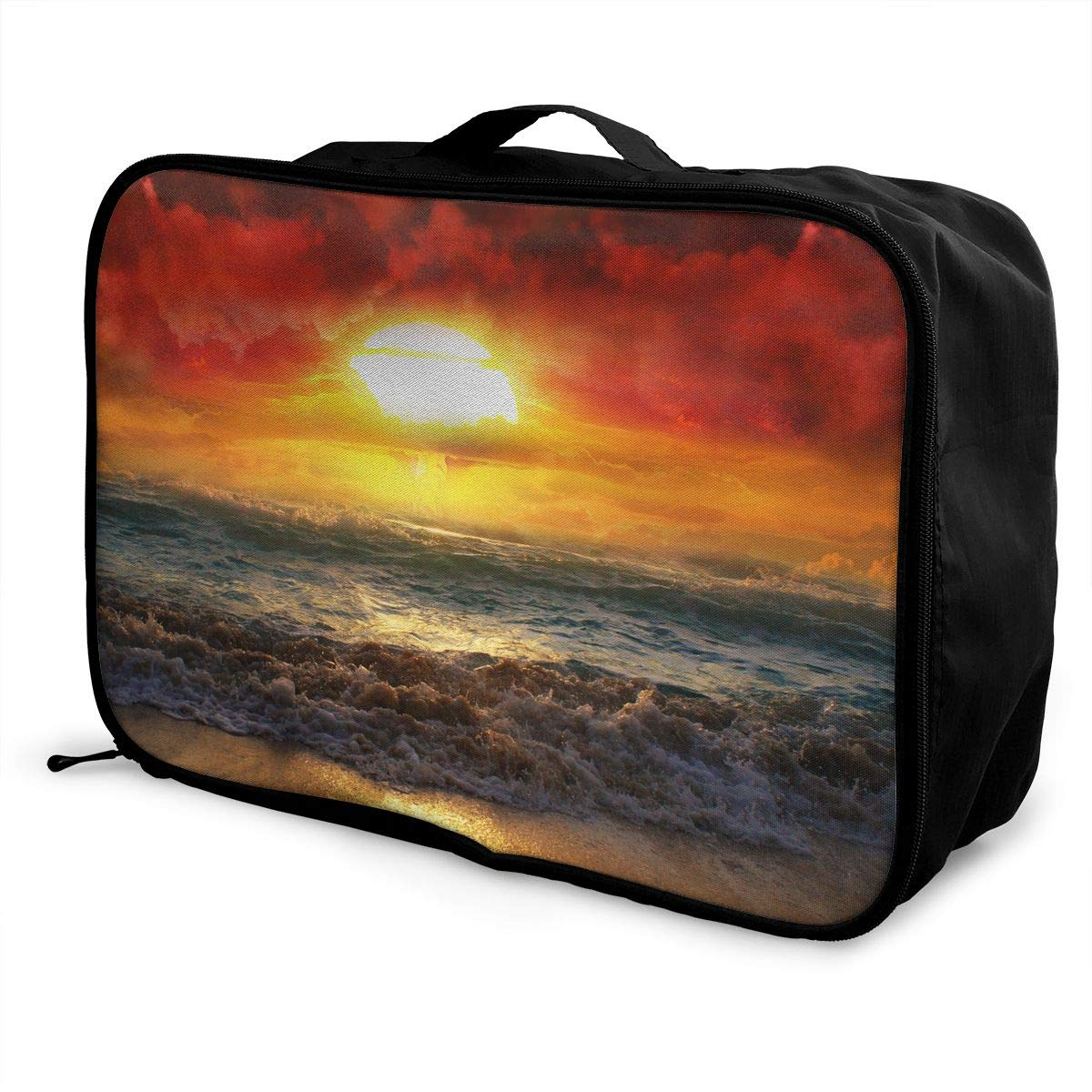 Natural Disaster Travel Bag Lightweight Luggage Bags Duffle Bag Large Capacity Travel Organizer Bag