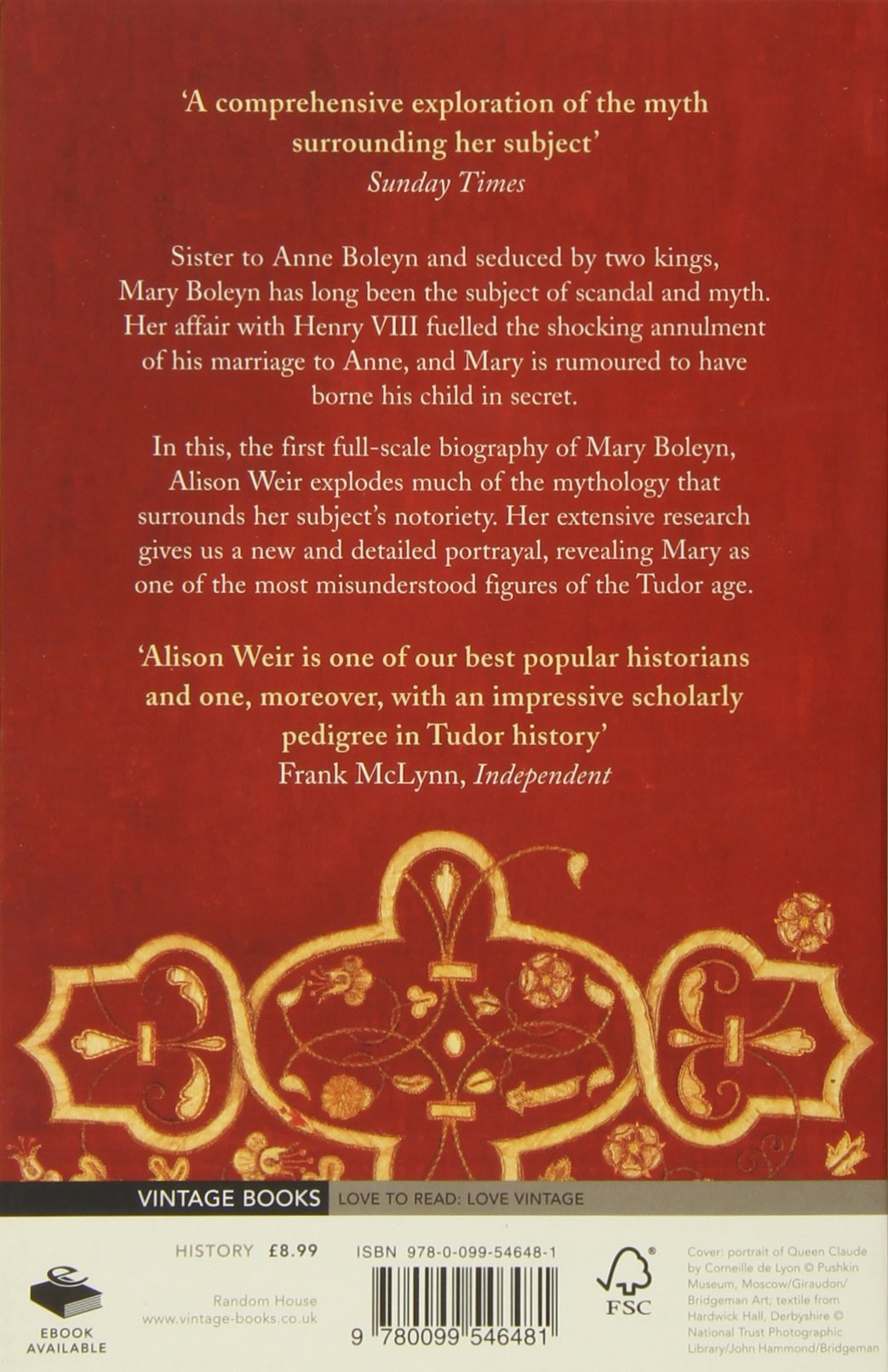 Mary Boleyn: 'the Great And Infamous Whore': Amazon: Alison Weir:  9780099546481: Books