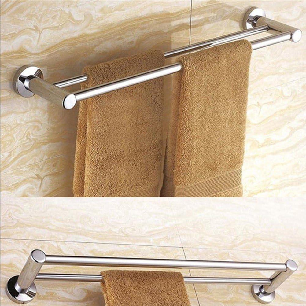 barra de toallero de acero inoxidable 1 o 2 rieles de 40 cm//50 cm//60 cm XuBa 40 cm Toallero de pared grueso a